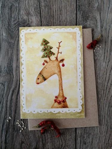 Kalėdinis atvirukas GRAŽUOLĖ + vokas
